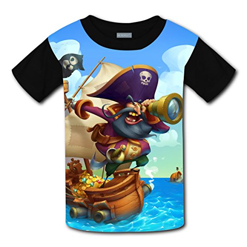 20cd9b728dbb Crew Neck New Trendy Tshirt 3D Make Your Own With Pirate Cartoon For Unisex  Children XS