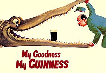 Amazon.com: Guinness Poster, My Goodness, My Guinness, Alligator ...