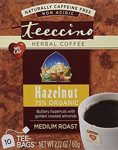 Teeccino Hazelnut Herbal Coffee 10 Tea (Teeccino Hazelnut Herbal Coffee)
