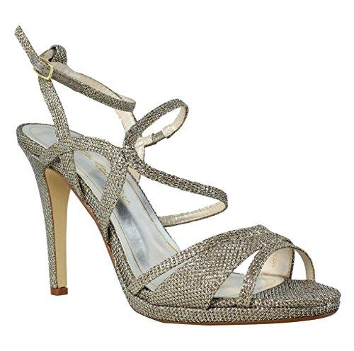 Caparros Women's Topaz Dress Sandal, Champagne, 8 M US