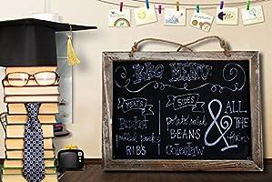 ONEDONE Vintage enmarcada de la pizarra de la cocina de la pizarra-decorativo tablero de tiza de signos boda rústica, Cocina copa y decoración de la ...
