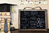 Cade Vintage Framed Kitchen Chalkboard - Decorative Chalk Board for Rustic Wedding Signs, Kitchen Pantry & Wall Decor