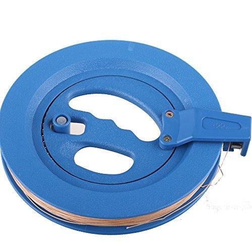 PMLAND - Carrete de Cuerda de Cometa Profesional de 19 cm con Cuerda de 200 m y Cierre de Bloqueo (Azul)