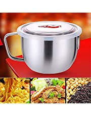 Camping Cooking Stainless Steel Bowl Microwave Oven Induction Cooker Applied Soup Ramen Noodle Pasta Bowl