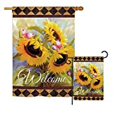 Cheap Ornament Collection Welcome Sunflower Spring – Floral Spring Vertical Impressions Decorative Flags Printed in USA House & Garden Flags Matching Set