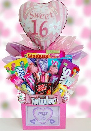 Amazon Sweet 16 Candy Basket Gourmet Gift Items Grocery
