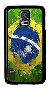 brand new Samsung S5 cover Awesome Brazil Flag PC Black Custom Samsung Galaxy S5 Case Cover
