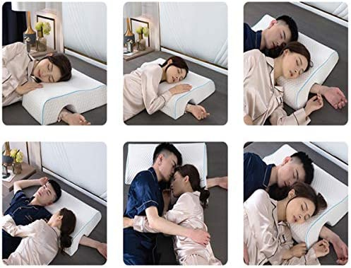 ZLXLED Oreiller Couple Bras, Coussin Ergonomique Cervical, Mousse À Mémoire De Forme Convient Aux Couples, Côté Gauche