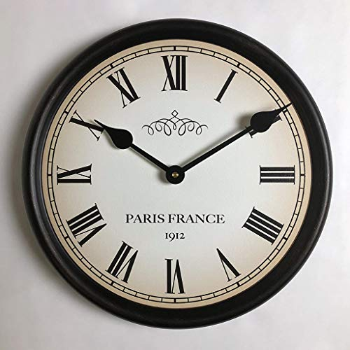 1912 Paris Wall Clock, Available in 8 Sizes, Most Sizes Ship The Next Business Day, Whisper Quiet.