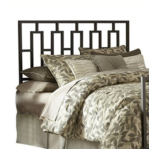 Fashion Bed Group Miami Metal Headboard with Squared Tubing and Geometric Design, Coffee Finish, (Fashion Bed Group Metal Headboard)