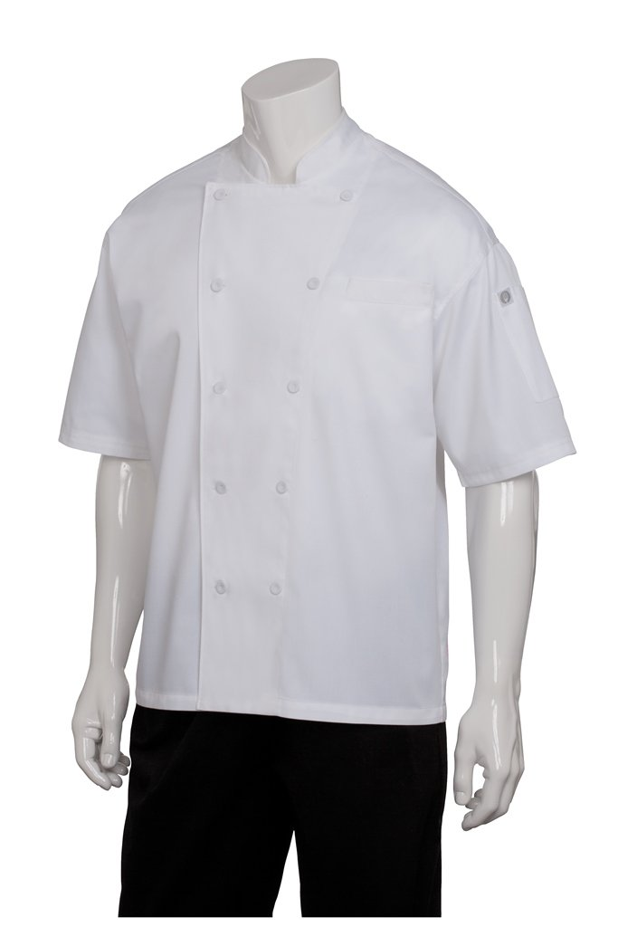 Chef Works Men's Palermo Executive Chef Coat, White, 3X-Large