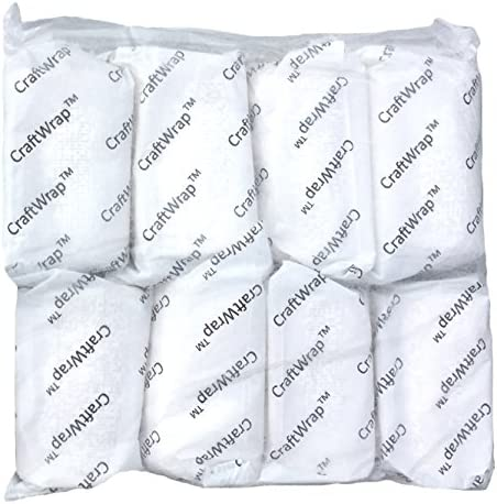 Belly Cast Crafts 12 Pack CraftWrap Each Roll 4 inch x 15 feet Plaster Cloth Gauze Bandage for Scenery