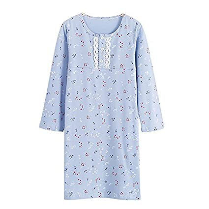 Baby Girls' Floral Nightgowns & Lace Sleep Shirts 100% Cotton Sleepwear 5-10 Years HOYMN