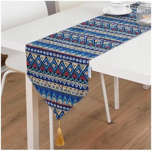 FTI-Colchonetas Azul/Rojo Table Runner Fiestas de cumpleaños Bodas Mantelería Mesa de Comedor Mantel de Lino Bordado (Color : Azul, Tamaño : 30 * 180cm): Amazon.es: Hogar