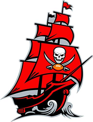 Crazy Discount Tampa Bay Buccaneers NFL Vinyl Sticker Decal Outside Inside Using for Laptops Water Bottles Cars Trucks Bumpers Walls, 3