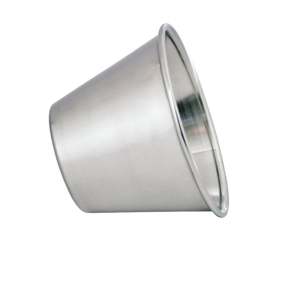 Kosma Conjunto de acero inoxidable de 72 tazas Condimentos Salsa de aderezo de ensalada tazas Plato Taza de salsa MACETAS 2.5 oz//70 ml