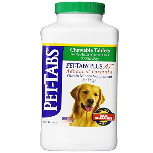 Pet Tabs Plus For Dogs Vitamin Supplement, 180 Count (Tabs Virbac Pet)