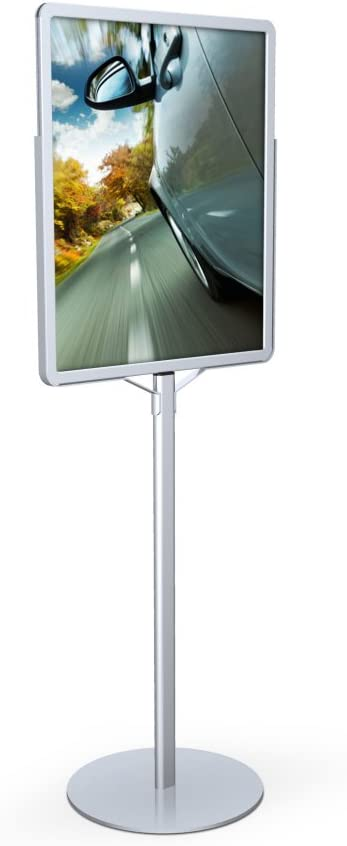 Amazon Com Poster Pole Signholder Color Satin Silver Size 66 H X 22 W Business And Store Sign Holders Office Products