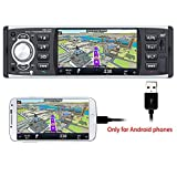 PolarLander Car Radio, Bluetooth Stereo,RDS Car Stereo,MP3 Player,Supports Hands-free Calls, Screen Mirroring for Android Phone, 4 Inch HD Stereo MP5 Player 1 Din USB/SD/FM/RDS With Rear Camera
