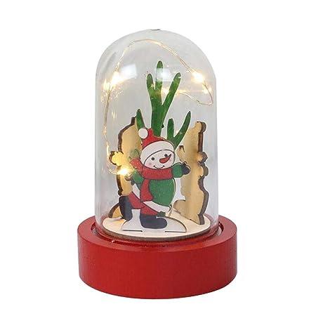 Amazon De Alileo Weihnachtsdekorationen Aus Holz Art Deco