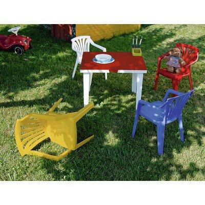 Set per Bambini Composto di tavolino e 4 sedie Ariel//Aladino Multicolore Best 91150099