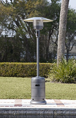 AmazonBasics Commercial Outdoor Patio Heater, Slate Grey