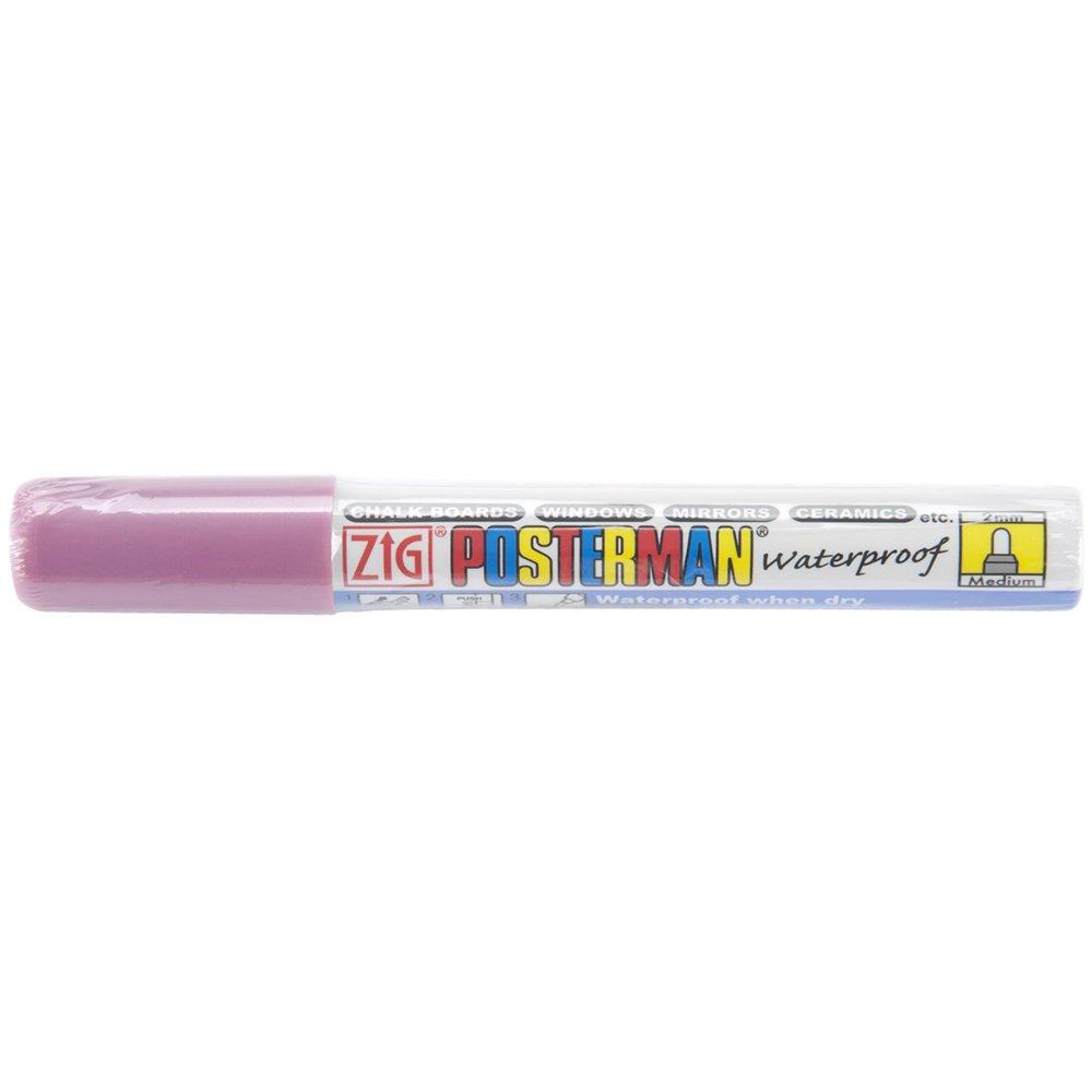 Zig 2mm Posterman Medium Tip Marker, Metallic Pink