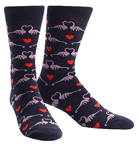 Dinosaur Socks (Sock It To Me Happy You Exist Womens Crew Socks,One Size,Navy)