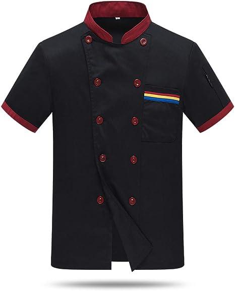 WYCDA Uniforme de Cocinero Camisa de Cocinero Cocina Uniforme ...