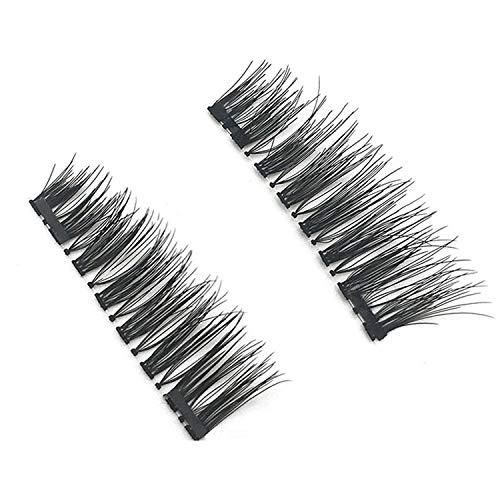 4 pieces/pair magnetic eyelashes 3D magnet eyelashes soft Natural long hair eyelashes in the magnet false eyelashes extensions,KS02-2