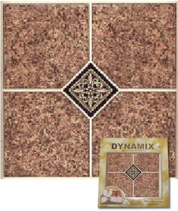 Box of 20 Multi 12 by 12-Inch Home Dynamix 1009 Dynamix Vinyl Tile