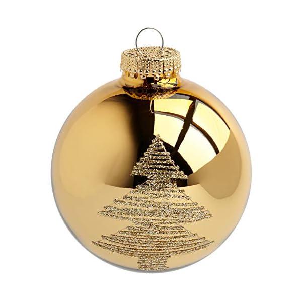 Heitmann Deco Krebs & Sohn Set di 20 Palline di Natale in Vetro - Albero di Natale Deco Appeso - Palle di Natale 5,7 cm - Oro Avorio 3 spesavip
