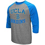 Colosseum Men's NCAA-Raglan-3/4 Sleeve-Heathered-Baseball T-Shirt-UCLA Bruins-XL