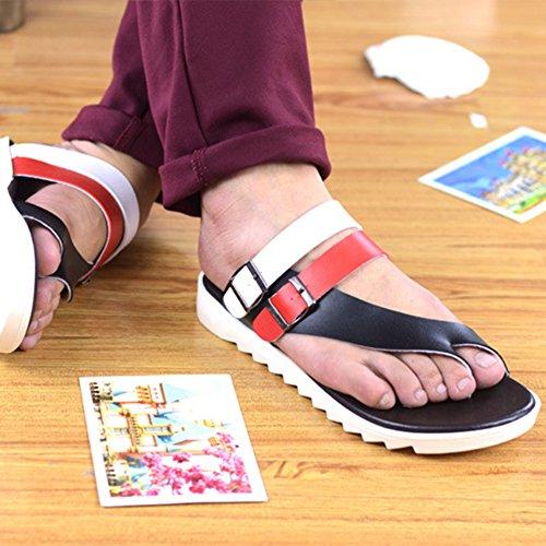 ZhuiKun Flop a Nero Flip Pantofole Casa Ciabatte Uomo Eleganti Rosso Sandali Infradito IwqrBI