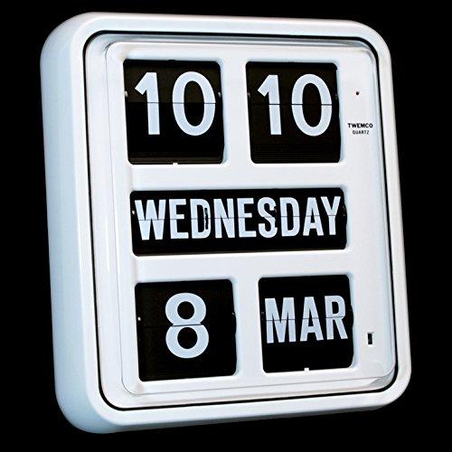 Homeloo Twemco German Quartz Calendar Wall Flip Clock BQ 170 ()