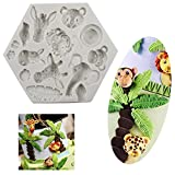 Taloyer 3D Silicone Forest Animals Cake Mold Cupcake Cookies Cutter Mould DIY Baking Decorating Tools