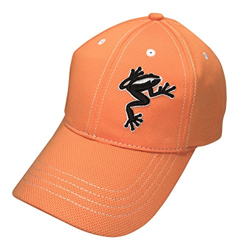 - Frogger Golf Fly Dry Performance, Slide Buckle Ball Cap - One Size - Orange/Black