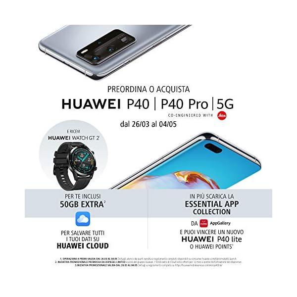 """HUAWEI P40 con Bluetooth Speaker, Acoustic Display da 6.1"""", Tripla Fotocamera Leica da 50 + 16 + 8 MP, Kirin 990 5G Octa Core, Nero, Versione Italiana 2 spesavip"""