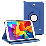 360 Degree Rotating Case Cover w/ Stand for Samsung Galaxy Tab 4 7.0 (Purple)