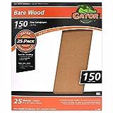 Gator Finishing 4225 150 Grit Bare Wood Sanding Sheets (25 pack), 9'' x 11''