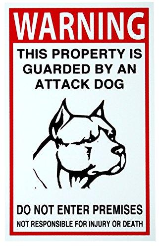 Burglar Bill Costume Ideas (1 Pc Superb Popular Security Beware Dog Signs Anti-Burglar No Trespassing Anti-Robber Size 7