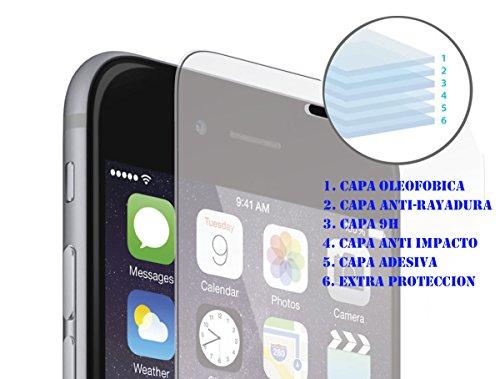 Crystal Templado NUEVO Iphone 8 & 7 PLUS [BALISTICO] Ultra-transparente ,MICA {Garantía Extendida} , Apple NEW Iphone 7 Screen Protector ,World Thinnest Ballistics Glass.