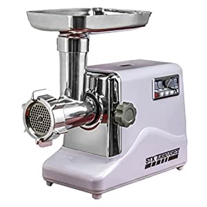STX International Model STX-3000-TF Turboforce Electric Meat Grinder & Sausage Stuffer Kit - Size #12 - 3 Grinding Plates, 3 Blades, 3 Sausage Stuffing Tubes & Kubbe Attachment