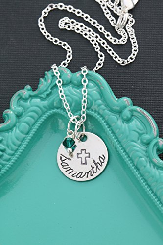 Cross Necklace – DII AAA - Personalized Confirmation Gift – Custom Baptism Present - 5/8