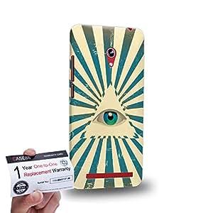 "Case88 [Asus Zenfone 6 6.0"" A600CG] 3D impresa Carcasa/Funda dura para & Tarjeta de garantía - Eye Of Divine Providence Sunrays"