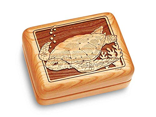 Heartwood Creations Music Box 4x3 - Sea Turtle - Ode to Joy