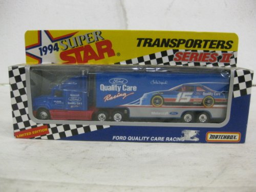 1994 Super Star Transporters Series II Lake Speed #15 Ford Quality Care Racing In Blue Diecast Scale Model By Matchbox ()