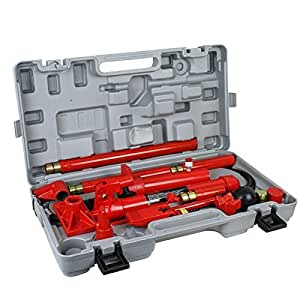 Amazon.com: Super Deal Red Porta Power Hydraulic Jack Body 10 Ton