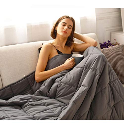 CuteKing Weighted Blanket 60x80 inches 25lbs Queen Size Heavy with Glass Beads for Adult Women Men, Dark Grey