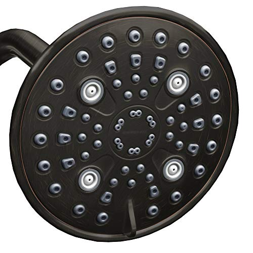 ShowerMaxx | Elite Series | 6 Spray Settings 6 inch Adjustable High Pressure Rainfall Shower Head | MAXX-imize Your Shower with Easy-to-Remove Flow Restrictor Showerhead | Oil Rubbed Bronze Finish
